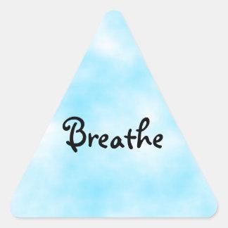 Breathe-square triangle sticker