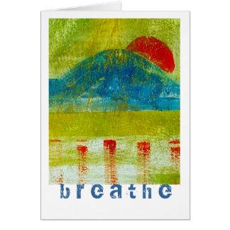 Breathe Stationery Note Card