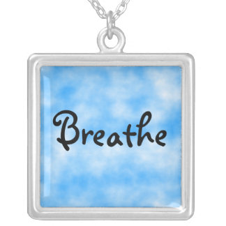 Breathe-sterling silver necklace