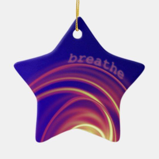 """""""Breathe"""" Swirling Light Ceramic Ornament"""