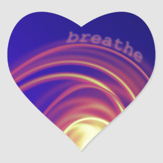 """Breathe"" Swirling Light Heart Sticker"