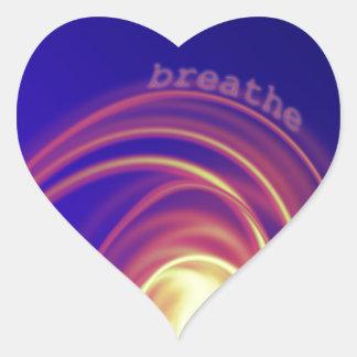 """""""Breathe"""" Swirling Light Heart Sticker"""