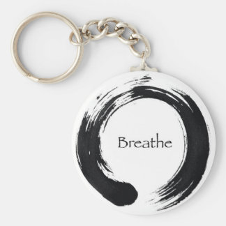 Breathe with Enso symbol Keychain