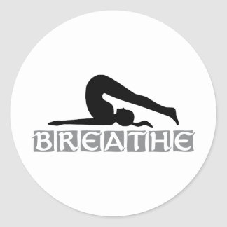 BREATHE Yoga Classic Round Sticker