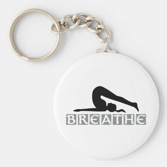 BREATHE Yoga Keychain
