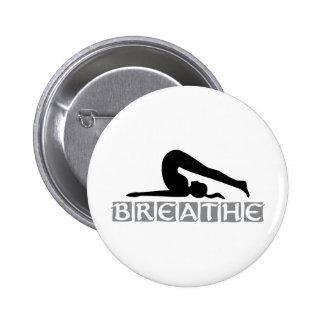 BREATHE Yoga Pinback Button