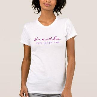 breathe zen yoga om yoga meditation design t shirt