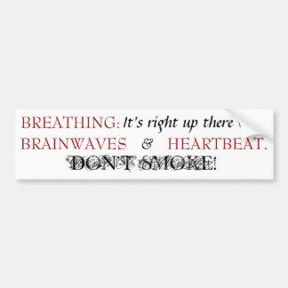 Breathing - Bmpr Stkr - Black/Red Car Bumper Sticker