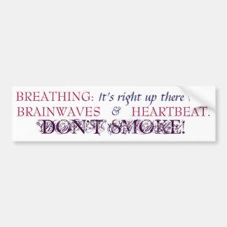 Breathing - Bmpr Stkr - Fuchsia/Drk Slate Blue Car Bumper Sticker