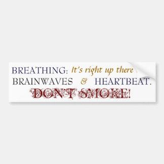 Breathing - Bmpr Stkr - Nvy Blue/Gold Car Bumper Sticker