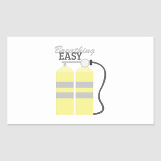 Breathing Easy Rectangular Sticker