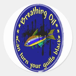 Breathing Oil Classic Round Sticker