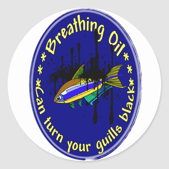 Breathing Oil Classic Round Sticker