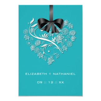 Breathless Heart RSVP Card - cozumel
