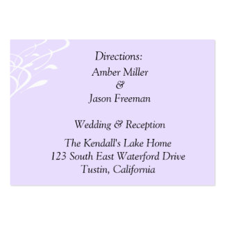 Breathless Lightly Lavendar Direction Cards Large Business Cards (Pack Of 100)