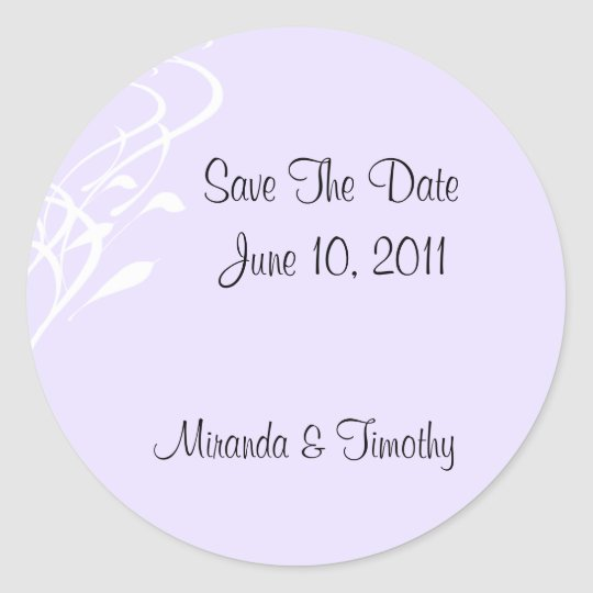 Breathless/Lightly Lavendar Save The Date Seals