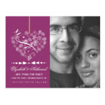 Breathless SAVE THE DATE Postcard- berry Postcard