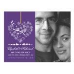 Breathless SAVE THE DATE Postcard- plum Postcard