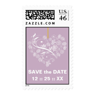 Breathless Save the Date Wedding Stamps-lilac
