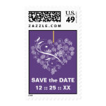 Breathless Save the Date Wedding Stamps-plum