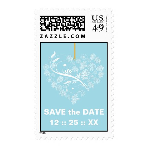 Breathless Save the Date Wedding Stamps-powder