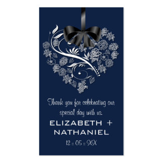 Breathless Wedding Favor Biz Favor Tag-indigo Business Card