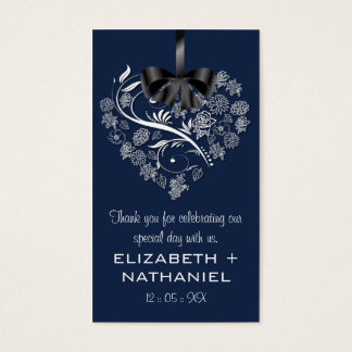 Breathless Wedding Favor Biz Favor Tag-indigo Business Card