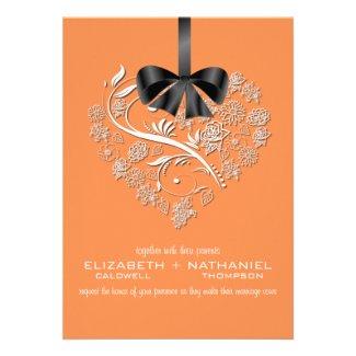 Breathless Wedding Invitation--apricot orange