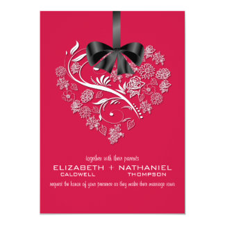 Breathless Wedding Invitation--cherry red