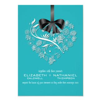Breathless Wedding Invitation--cozumel teal Card