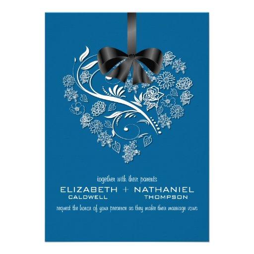 breathless wedding invitation electric blue zazzle With electric blue wedding invitations
