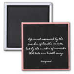 """Breaths"" Quote 2 Inch Square Magnet"