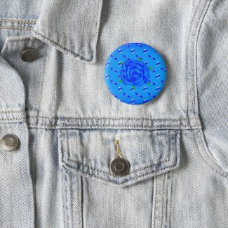 Breathtaking Blue Rose Pinback Button
