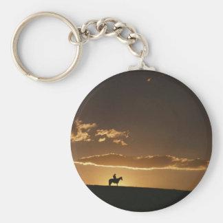 Breathtaking Cowboy Sunset Keychain