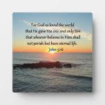 BREATHTAKING JOHN 3:16 SUNRISE PLAQUE