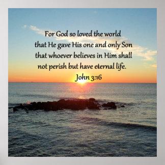 BREATHTAKING JOHN 3:16 SUNRISE POSTER