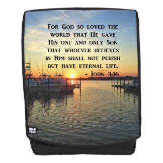 BREATHTAKING JOHN 3:16 SUNSET PHOTO BACKPACK