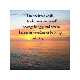 BREATHTAKING JOHN 6:35 SUNRISE DESIGN CANVAS PRINT