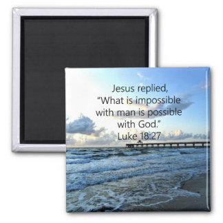 BREATHTAKING LUKE 18:27 OCEAN PHOTO DESIGN MAGNET
