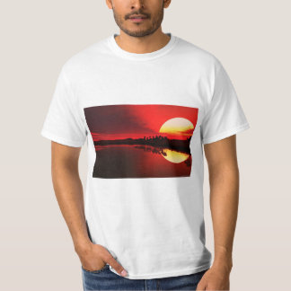 Breathtaking painting of west african sunset T's T-Shirt