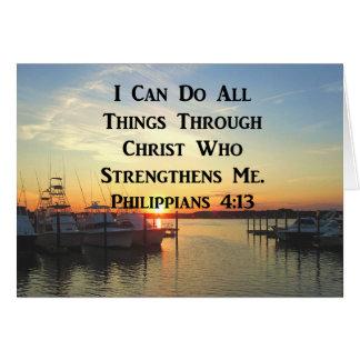BREATHTAKING PHILIPPIANS 4:13 SCRIPTURE CARD