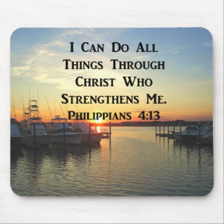 BREATHTAKING PHILIPPIANS 4:13 SCRIPTURE MOUSE PAD