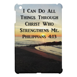 BREATHTAKING PHILIPPIANS 4:13 SCRIPTURE VERSE COVER FOR THE iPad MINI