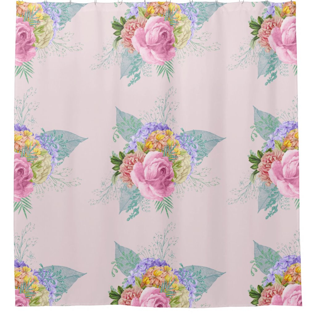 Breathtaking Romantic Chic Flowers Shower Curtain