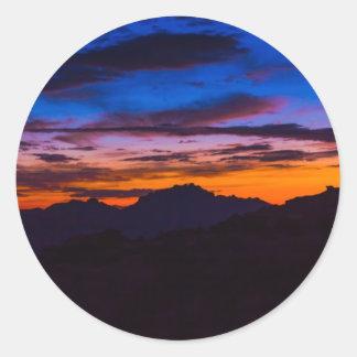 Breathtaking Southern Arizona Sunset Round Stickers