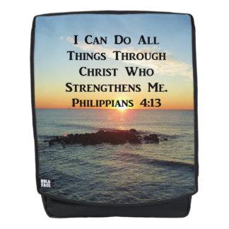BREATHTAKING SUNRISE PHILIPPIANS 4:13 BACKPACK