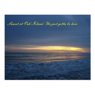 Breathtaking Sunset at Oak Island Postcard