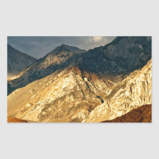 BREATHTAKING VIEW OF EASTERN SIERRA LANDSCAPE RECTANGULAR STICKER