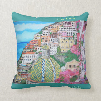 Breathtaking vistas of Positano Throw Pillow