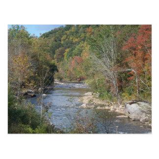 Breathtaking West Virginia River Postcard